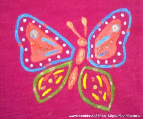 Рисунок на ткани акрилом мастер-класс