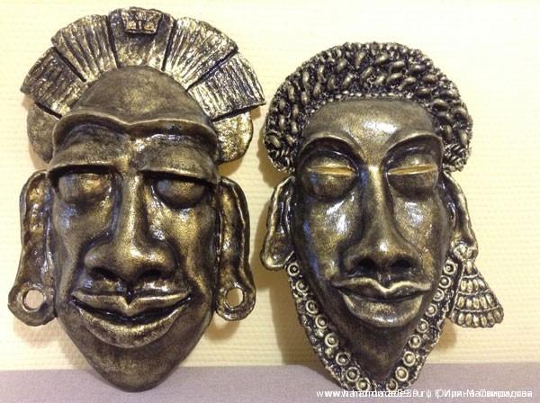 МК: африканские маски ручной работы