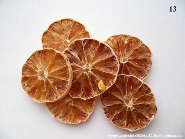 Сушёные лимонные дольки