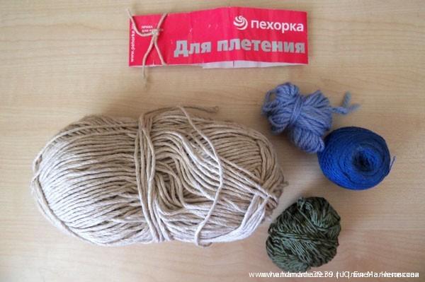 Льняная пряжа для плетения (макраме)