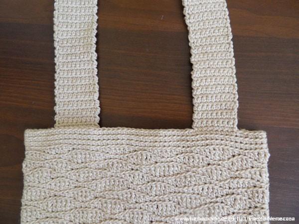 Вязанные крючком ручки сумки