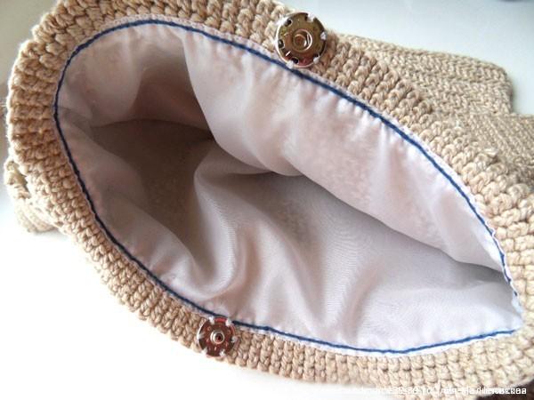 Вязанная крючком сумка - подкладка