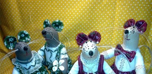МК: мышки в стиле Тильда