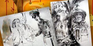 Иллюстрации к рассказу Виктора Пелевина «Бубен верхнего мира»