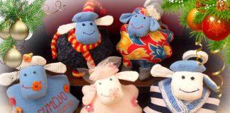 Шитые овечки к Новому году