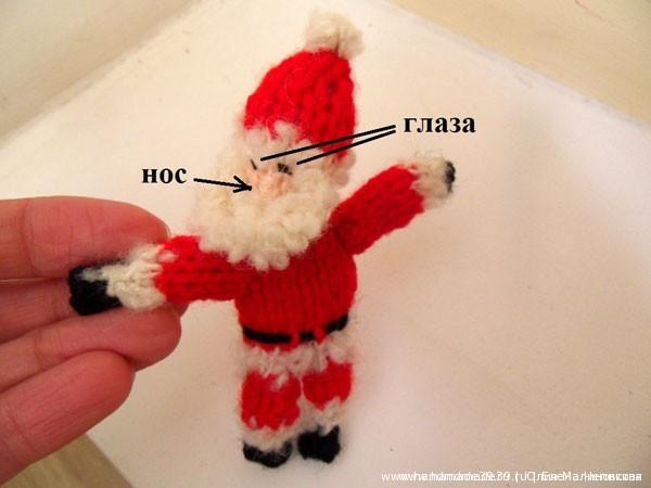 МК Вязаный Санта Клаус на крыше