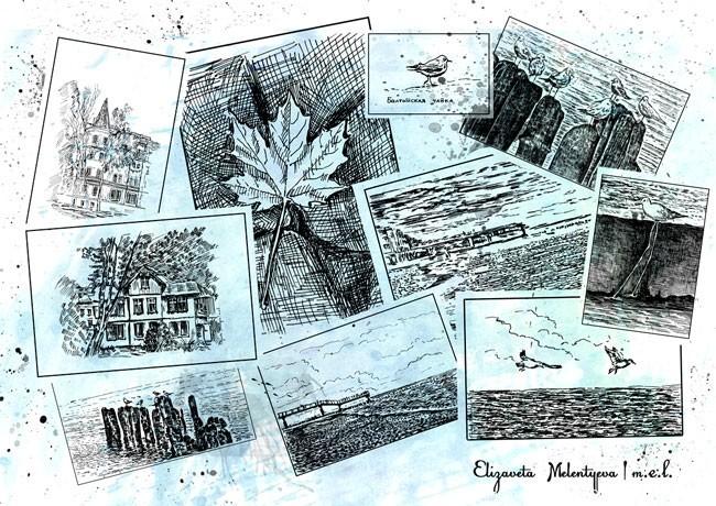 Графика Балтийские зарисовки