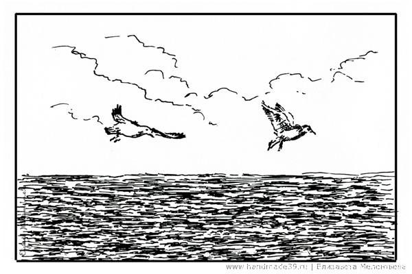 Балтийские чайки - графика