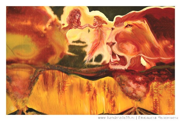 Набор открыток Каменная радуга. «Цирк» (тигровый глаз)