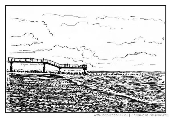 Светлогорский пляж. Променад. Балтийское море.