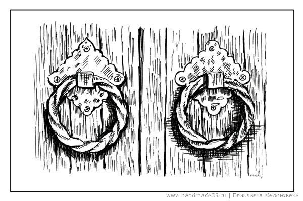 Дверные ручки Кёнигсберга. Графика.