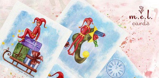 Набор открыток Новогодние арлекины