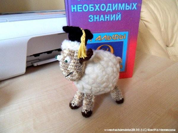 Вязаная игрушка Учёная овца