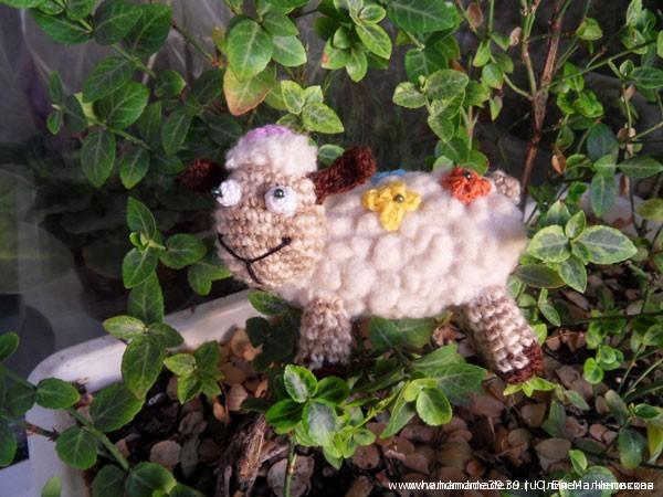 Мягкая игрушка Овца в цветочек