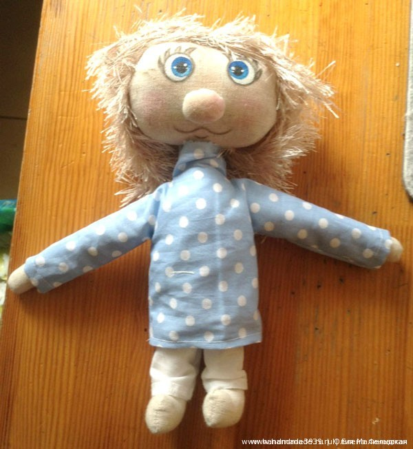 Мягкая игрушка Домовёнок Кузя. Домовёнок с волосами.