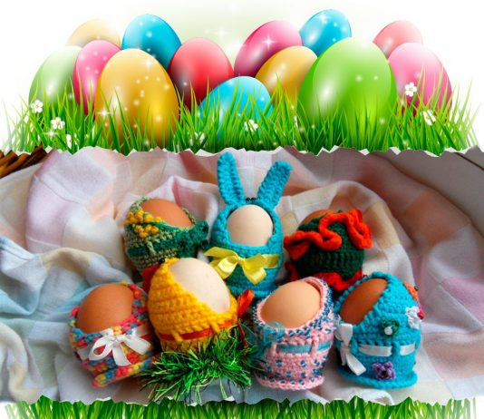 Вязаные подставки для пасхальных яиц