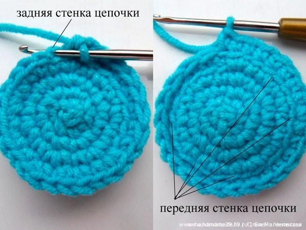 Вязаные подставки для пасхальных яиц - круг