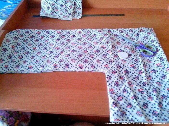 Жакет в технике Crazy Wool - раскрой ткани