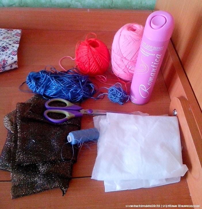 Жакет в технике Crazy Wool - материалы