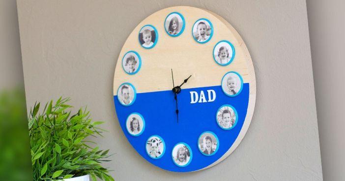 Часы для папы своими руками на