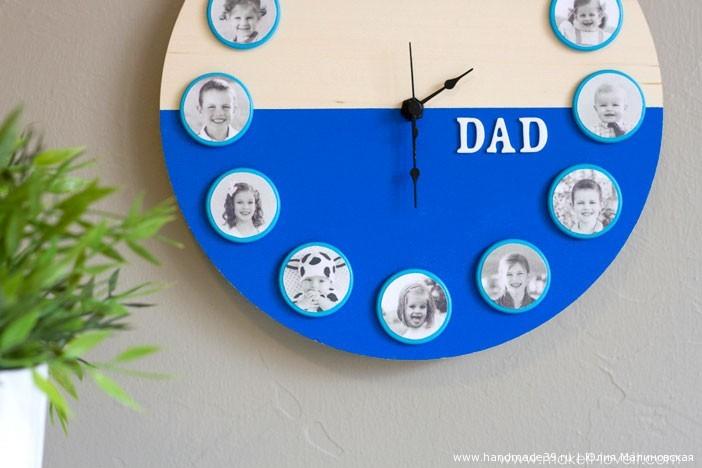 Часы для папы своими руками