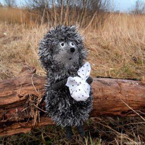 Вязаная игрушка Ёжик в Тумане