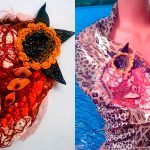 Броши в стиле Бохо. Текстильное украшение «Загадка».