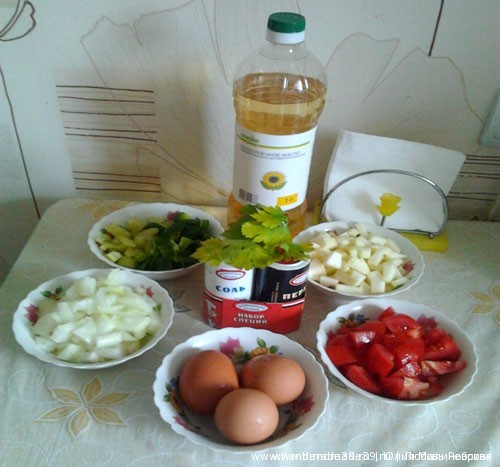 Овощная яичница, мастер-класс