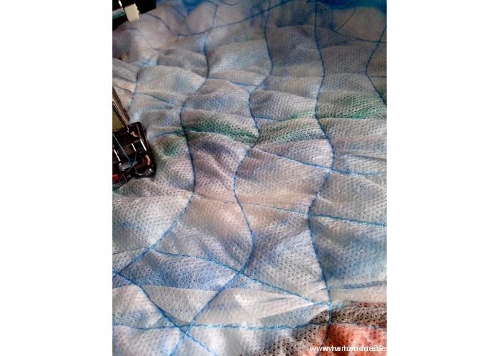 Осенний палантин Крейзи-вул – мастер-класс. Как прострачивать ткань.
