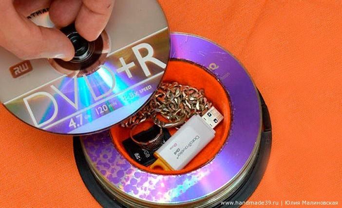 Шкатулка-тайник из CD-дисков