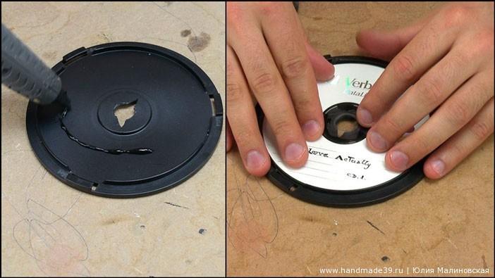 Шкатулка-тайник из старых CD-дисков