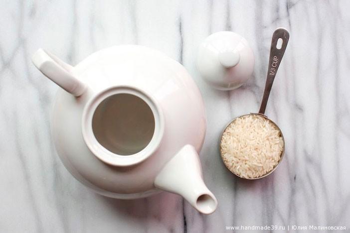 Необычное использование риса - как очистить заварочный чайник