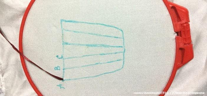 """МК Как вышить корзинку швом """"назад иголка"""". basket-01"""