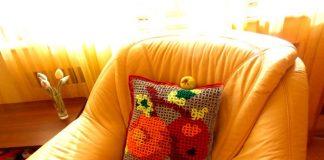 """МК «Объёмное вязание: подушка """"Яблоки""""»"""