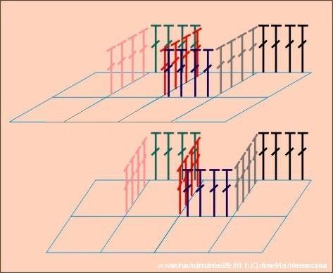 Схема объёмного вязания крючком