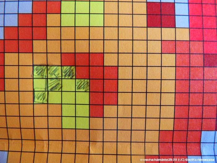 Схема вязания цветного узора