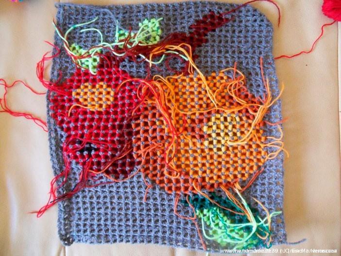 Объёмное вязание крючком - изнаночная сторона