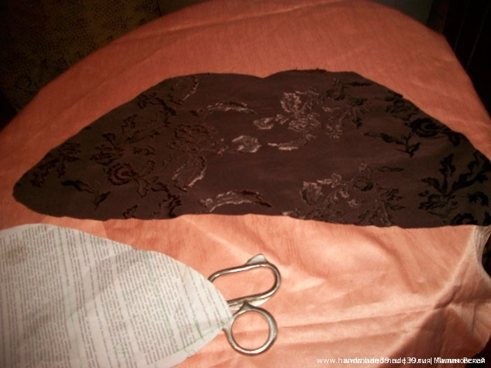 Шитая подушка – роза с листьями - выкройка лепестков