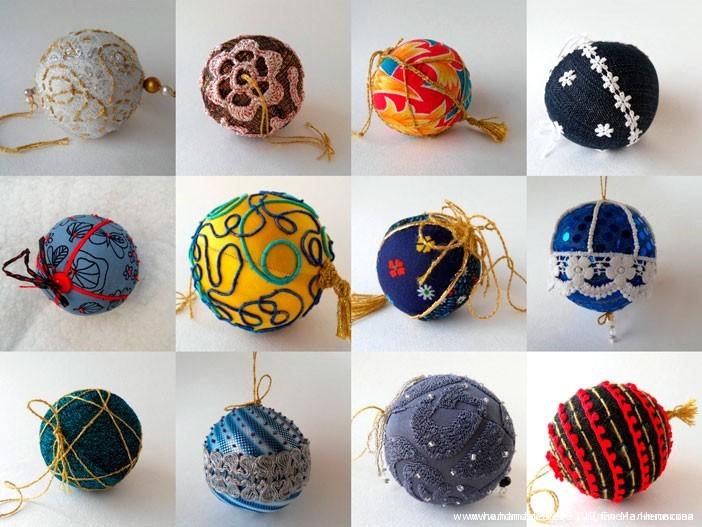 МК Шитые новогодние шары