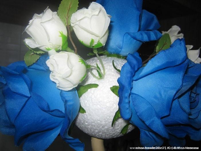 МК Топиарий своими руками - как располагать цветы.