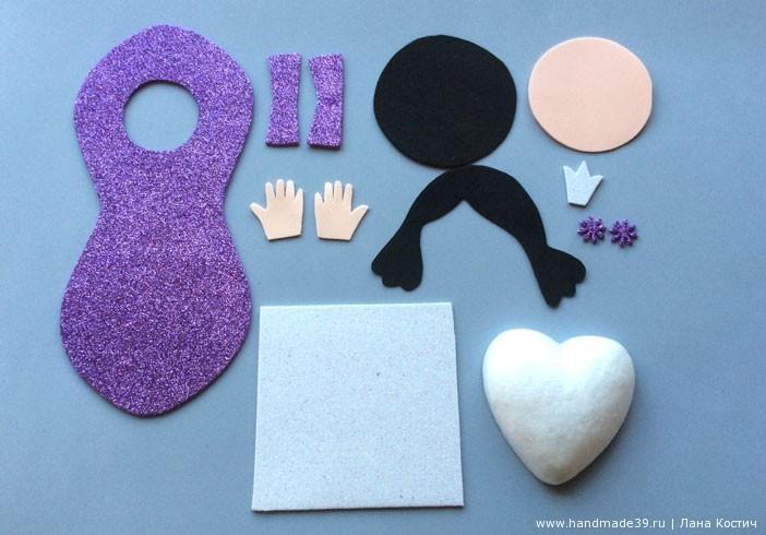 МК Фоамиран: валентинки с конфеткой - выкройка