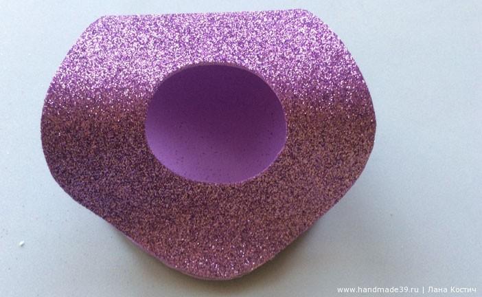 МК Фоамиран: валентинки с конфеткой  - этапы работы