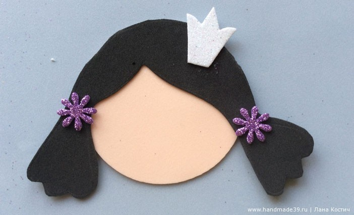 МК Фоамиран: валентинки с конфеткой  - голова куколки