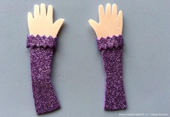 МК Фоамиран: валентинки с конфеткой - руки девочки