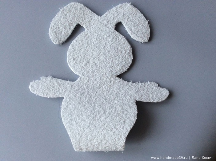 МК Фоамиран: валентинки с конфеткой - зайчик