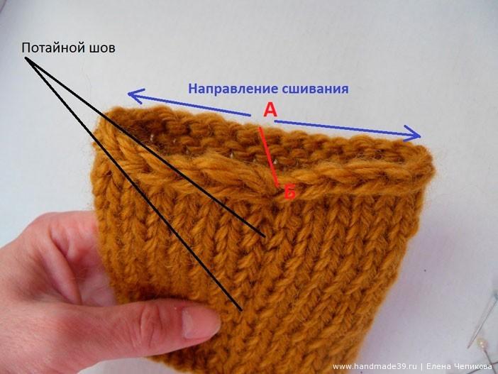 Важный момент! Обратите внимание на то, как нужно вводить иглу при потайном шве.