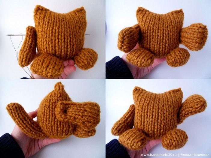 Кот, связанный спицами - мастер-класс