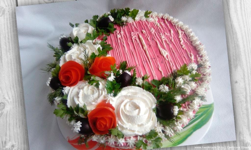 Торт-салат «Селёдка под шубой»