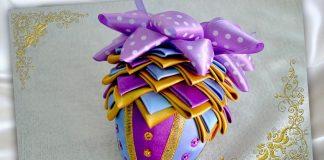 МК «Пасхальное яйцо из атласных лент»