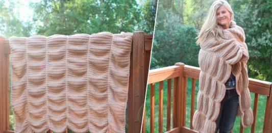 Объёмное одеяло-плед
